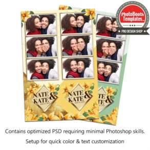 Golden Lily Wedding 3-up Strips