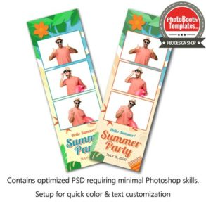 Summer Beach Celebration 3-up Strips