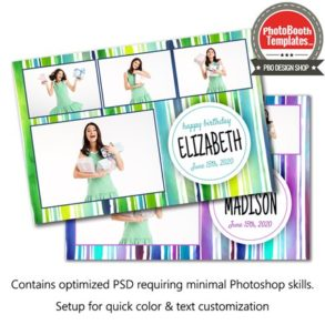 Watercolor Stripes Postcard
