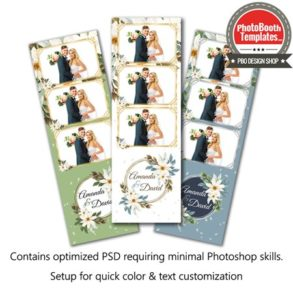 Exquisite Watercolor Floral 3-up Strips