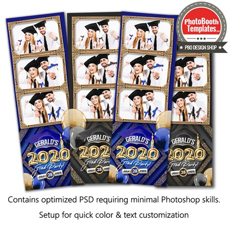 Graduation Balloon Letters 3-up Strips 1
