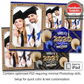 Graduation Balloon Letters Postcard (iPad)