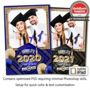 Graduation Balloon Letters Portrait (iPad)