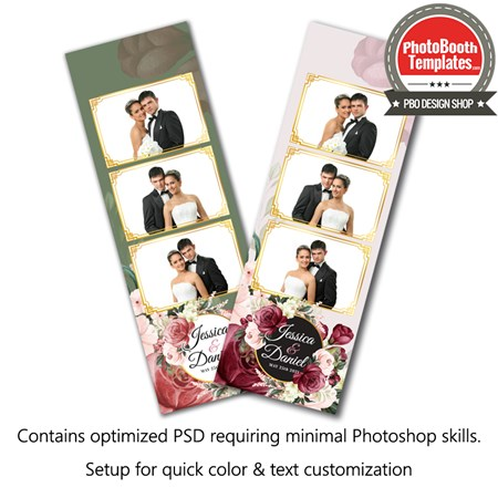 Romantic Floral 3-up Strips 1