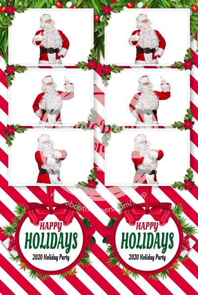 Holiday Stripes 3-up Strips