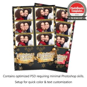 Mesmerizing Christmas Carols 3-up Strips