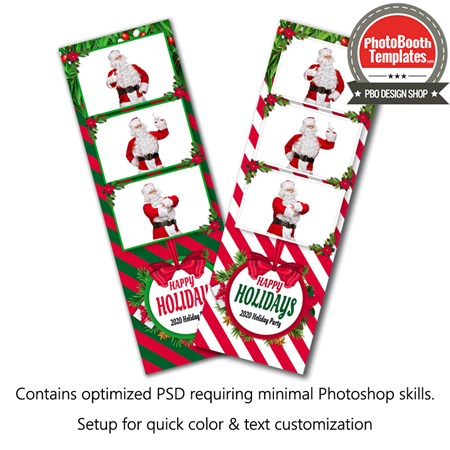Holiday Stripes 3-up Strips 1
