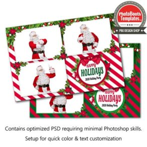 Holiday Stripes Postcard