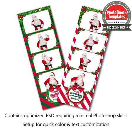 Holiday Stripes 4-up Strips 1