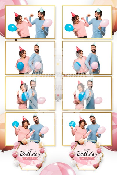Luxurious Balloons 4-up Strips