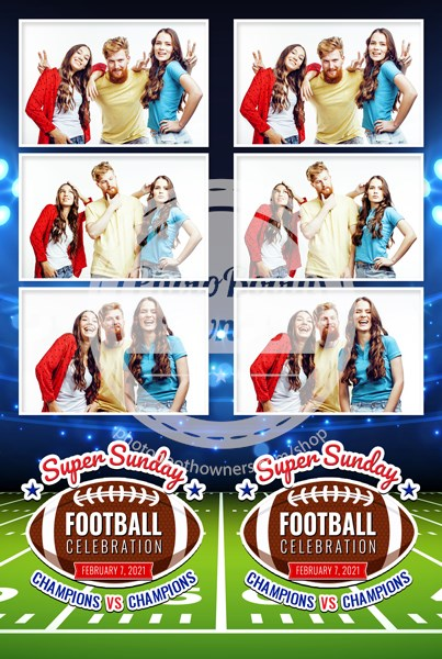Football Event 3-up Strips