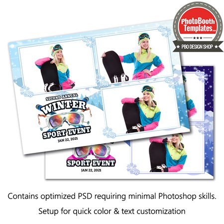 Winter Sport Event Postcard 1