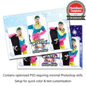 Winter Sport Event Postcard