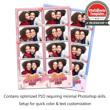 Valentine Paper Style 4-up Strips 1