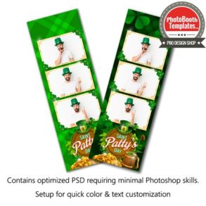 St. Patrick's Celebration 3-up Strips