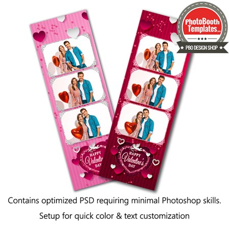 Passionate Hearts 3-up Strips 1