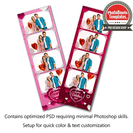 Passionate Hearts 4-up Strips 1