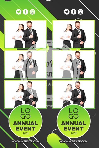 Abstract Corporate Party 3-up Strips