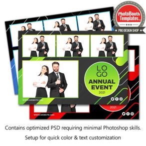 Abstract Corporate Party Postcard