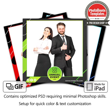 Abstract Corporate Party Square (iPad) 1