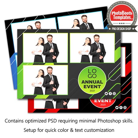 Abstract Corporate Party Postcard 1
