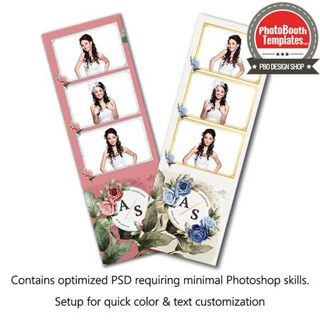 Luxurious Watercolor Floral 3-up Strips 1