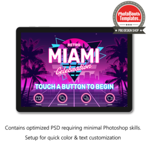 90's Miami Glam Welcome screen