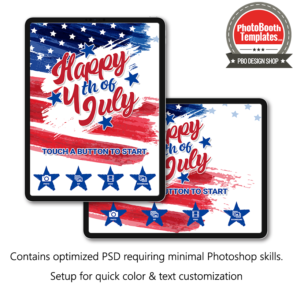 Modern watercolor fourth of July welcome screens (PSD)