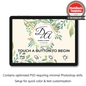 rustic summer chic photo booth welcome screen surface pro
