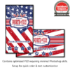 July 4th stars and stripes photo booth welcome screen
