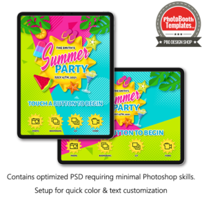 summer sunshine photo booth welcome screen ipad Snappic