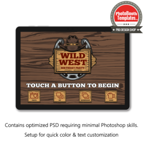Wild western photo booth welcome screen surface pro