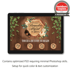 rustic woodland tree slice welcome screen surface pro