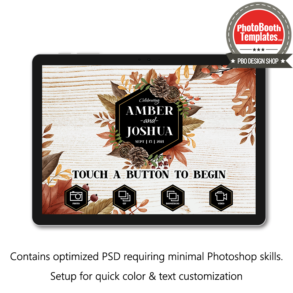 autumn essence photo booth welcome screen surface pro