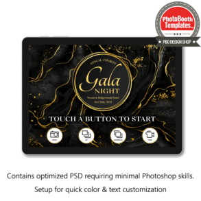 marbled sophistication photo booth welcome screen surface pro