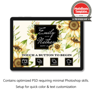 splendid sunflowers photo booth welcome screen surface pro