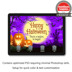 halloween moonlight photo booth welcome screen surface pro