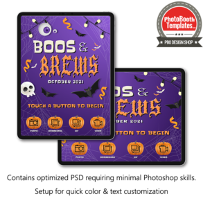 spooktacular halloween celebration photo booth welcome screen ipad snappic