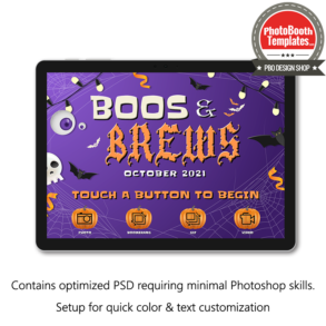 spooktacular halloween celebration photo booth welcome screen surface pro